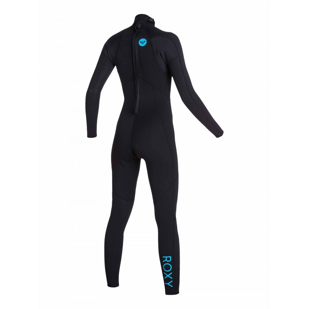 Womens 3/2mm Syncro Base Flat Lock Back Zip Steamer Wetsuit  ARJW103048 Roxy