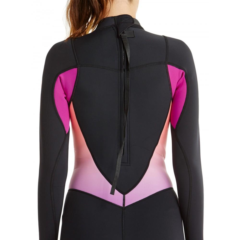Womens 2/2mm Syncro Long Sleeve Back Zip Springsuit Wetsuit ARJW403009 Roxy
