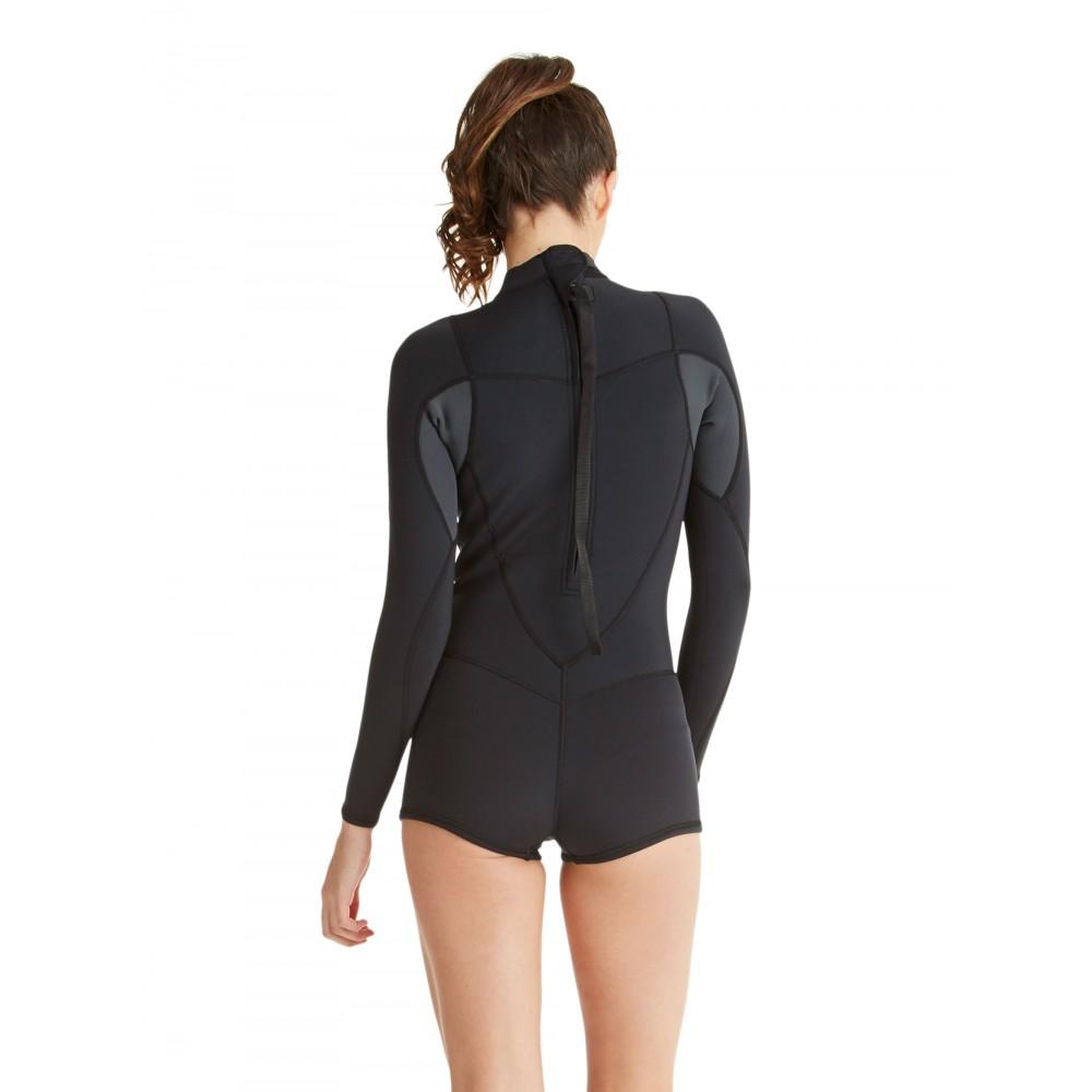 Womens 2/2mm Syncro Long Sleeve Back Zip Springsuit ARJW403009 Roxy