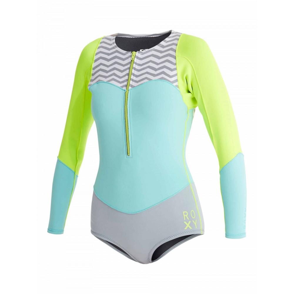 Womens 1mm XY Long Sleeve Bikini Springsuit Wetsuit_ARJW403012 Roxy