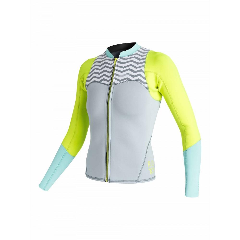 Womens 2mm XY Front Zip Long Sleeve Wetsuit Jacket ARJW803008 Roxy
