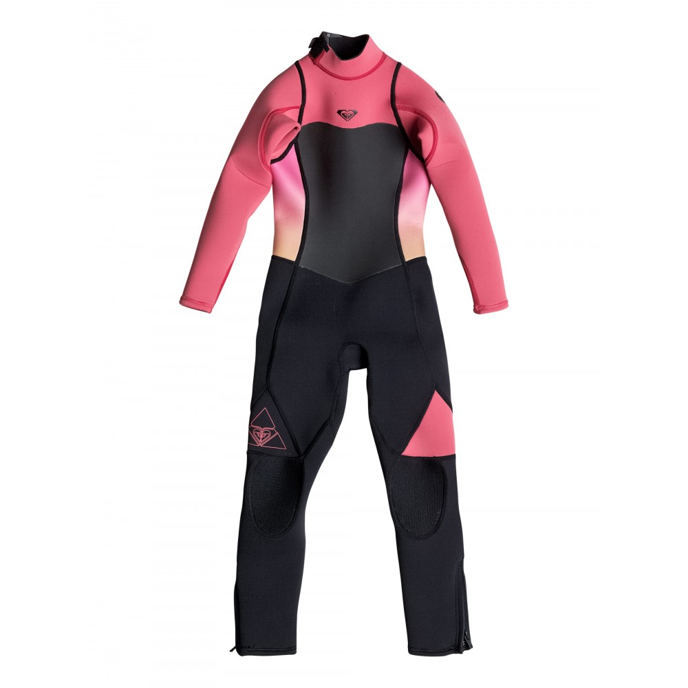 Girls 2-7 Syncro Flatlock Teeny 3/2 Back Zip Steamer Wetsuit ERGW103009 Roxy
