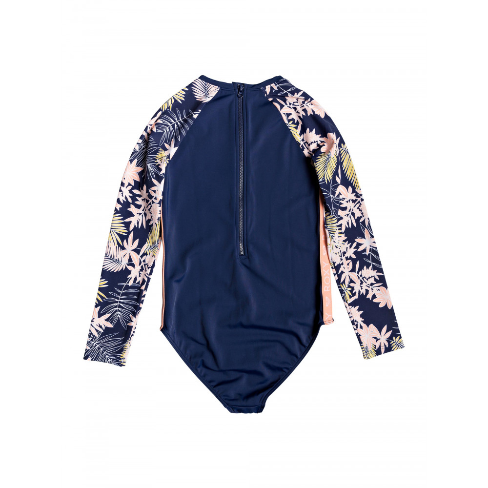 Girls 8-14 Bikini Point Long Sleeved UPF 50 Onesie ERGWR03122 Roxy