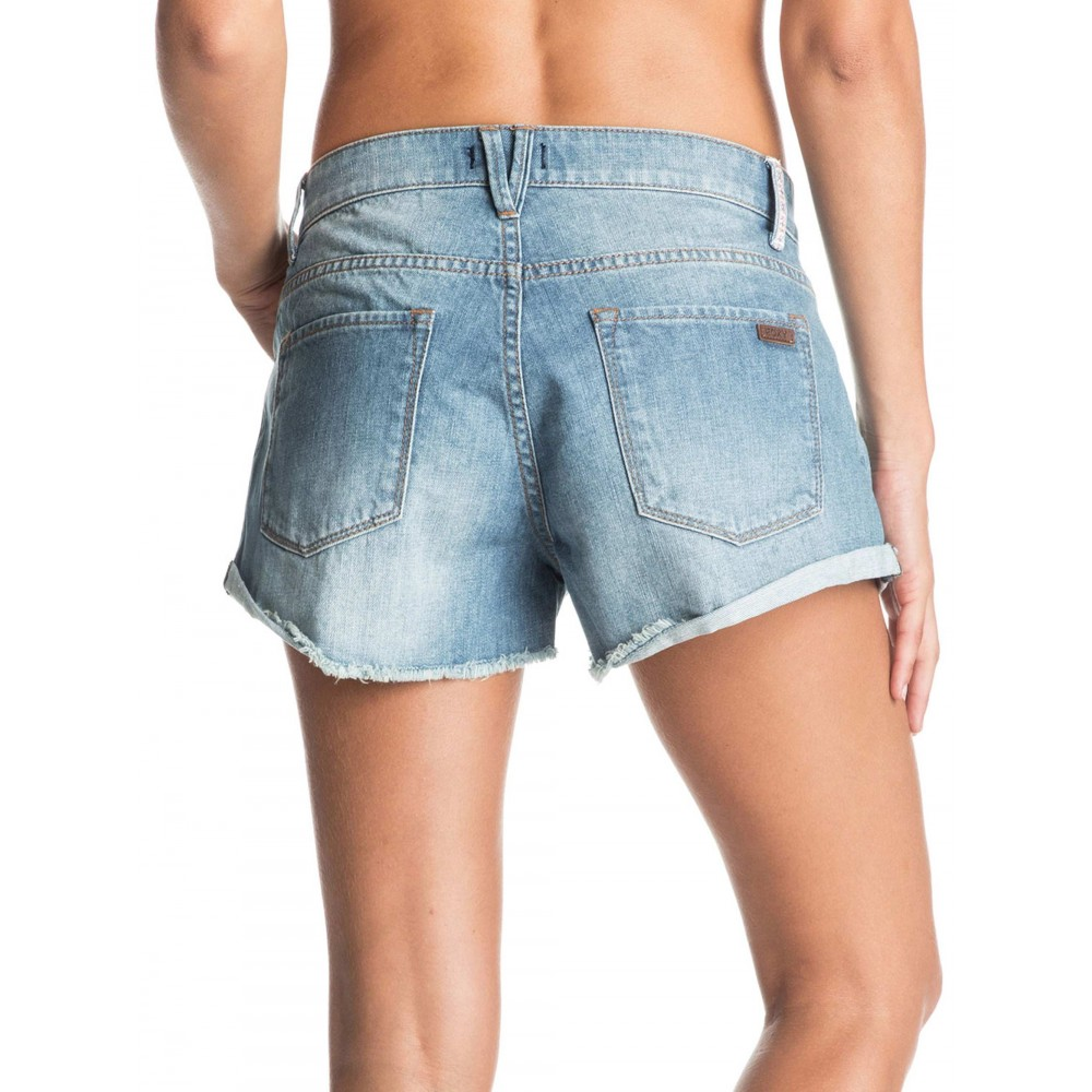 Womens My Boyfriend Denim Short ERJDS03090 Roxy