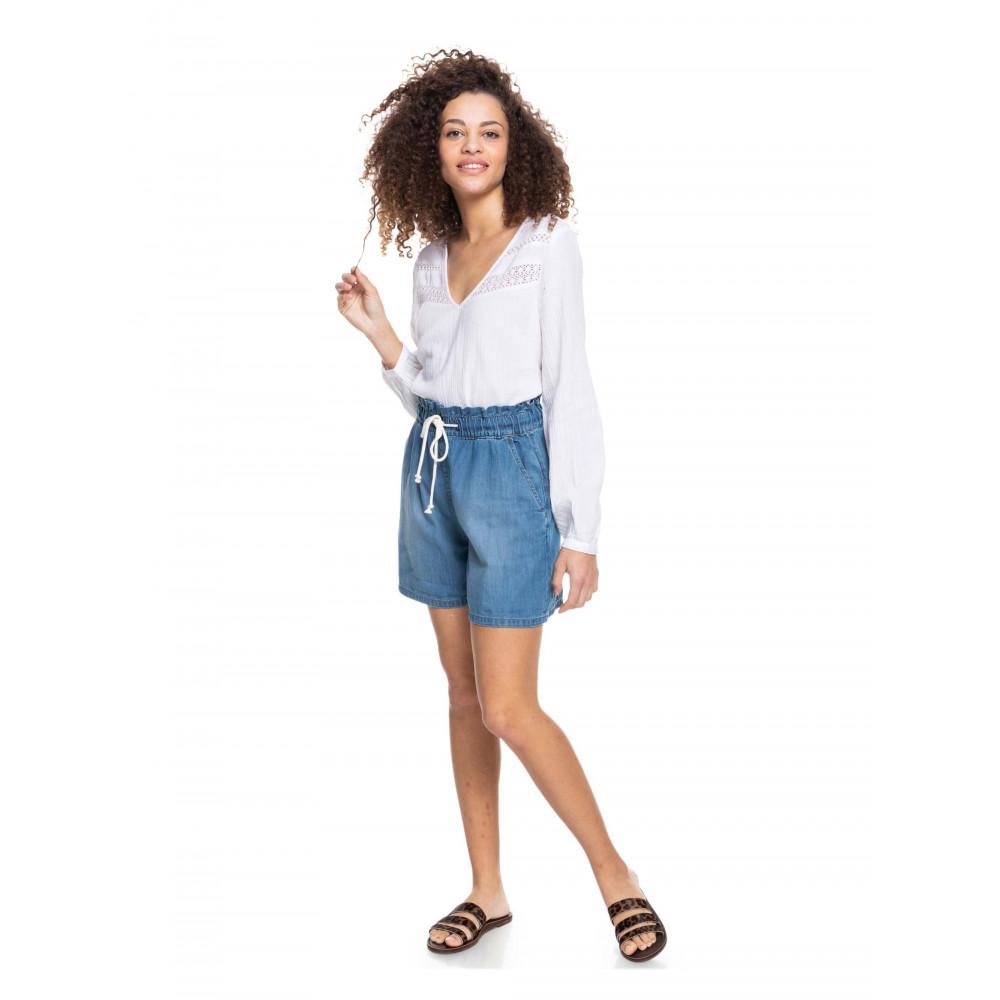 Womens Violet Light Denim Shorts ERJDS03265 Roxy