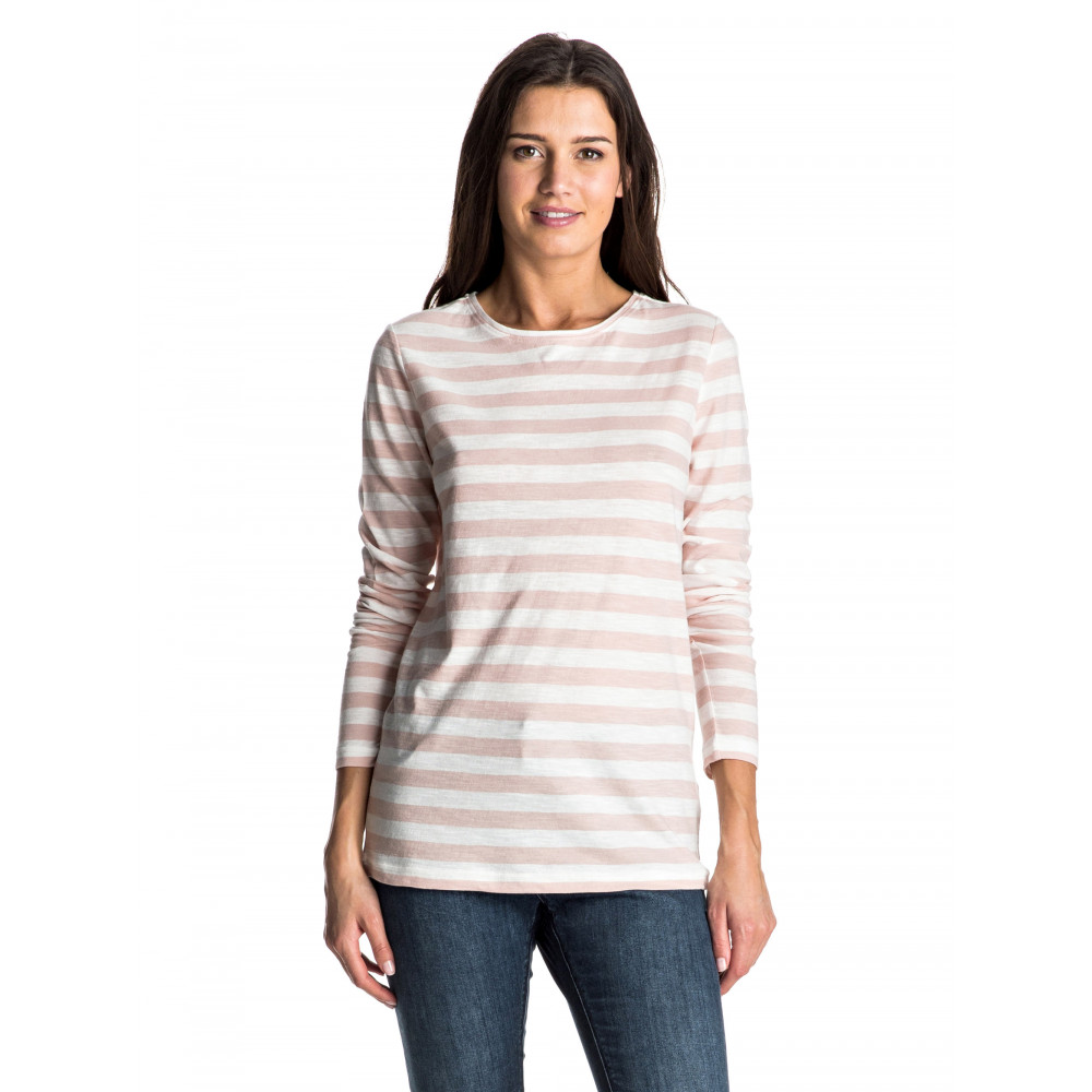 Womens Zarauz Beat Stripes Long Sleeve T Shirt ERJKT03195 Roxy