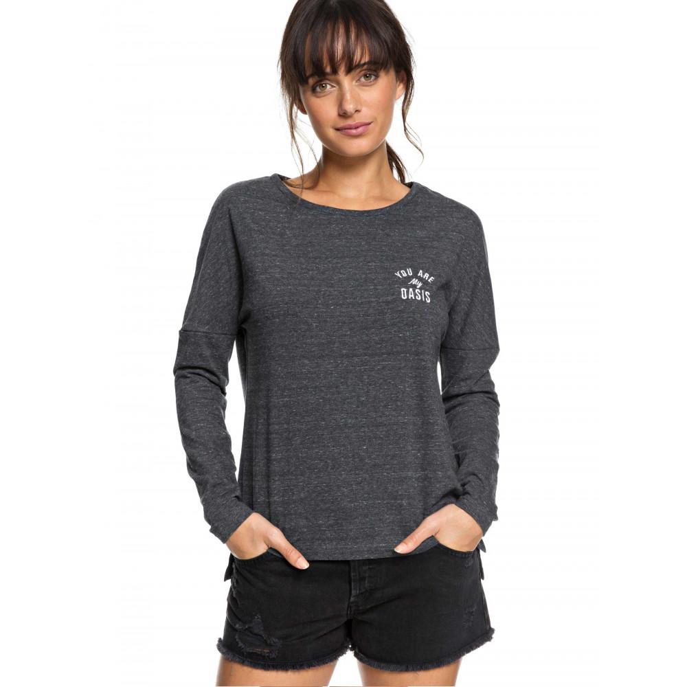cb16f1de7ffb Womens Dirty Magic Long Sleeved Scoop Neck Logo T-Shirt ERJZT04300 ...
