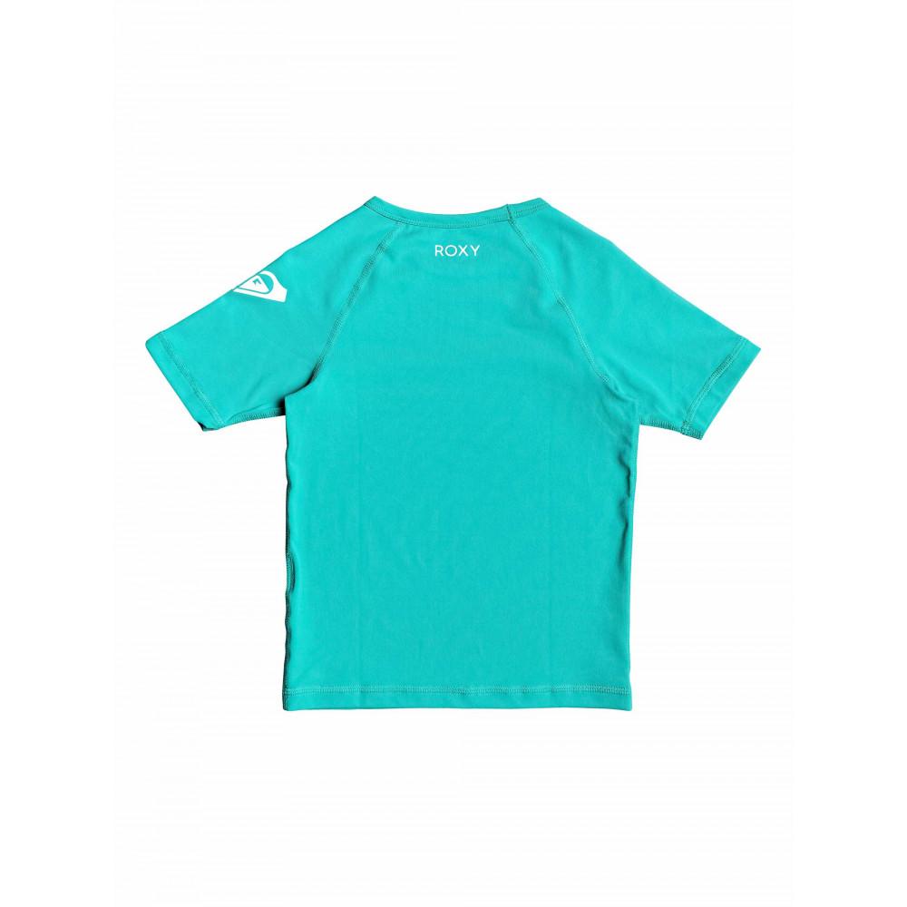 Girls 2-7 Funny Waves Short Sleeved UPF 50 Rashguard ERLWR03090 Roxy