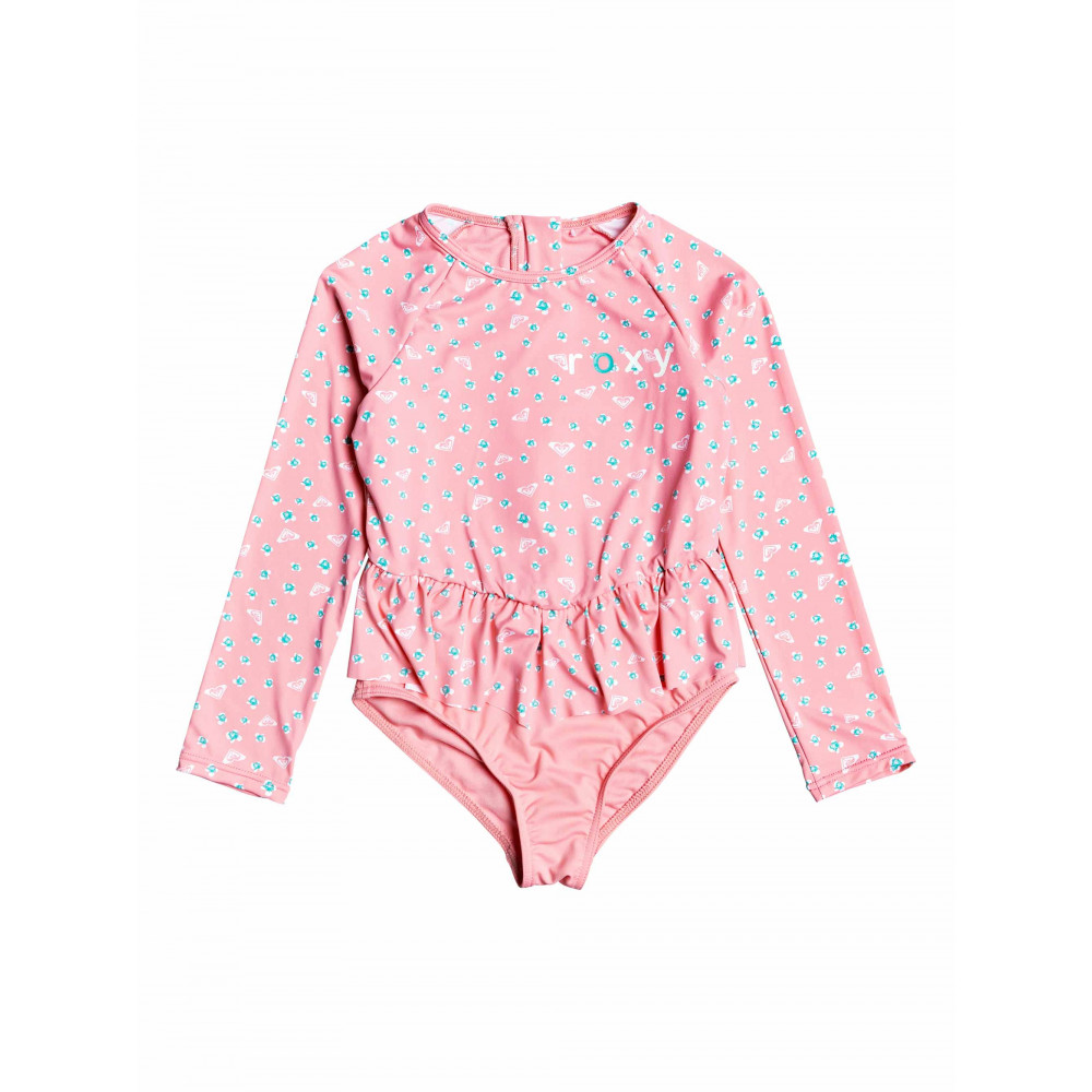 Girls 2-7 Splash Party Long Sleeved Back Zip Onesie ERLWR03120 Roxy