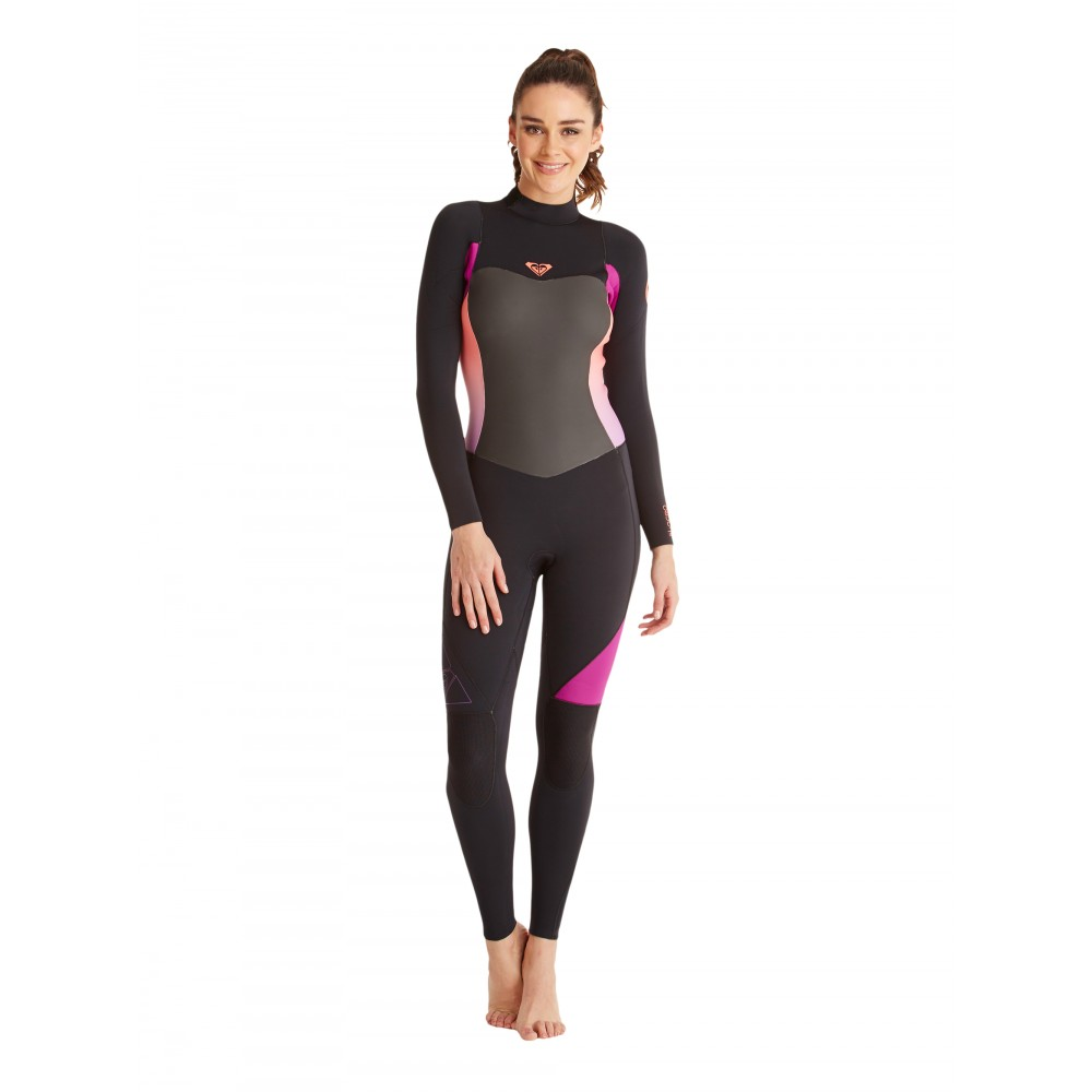 Womens 3/2mm Syncro GBS Back Zip Steamer Wetsuit ARJW103041 Roxy