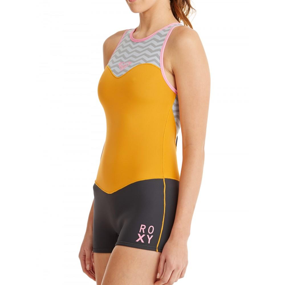 Womens 2mm XY Racer Short John Springsuit Wetsuit ARJW603012 Roxy