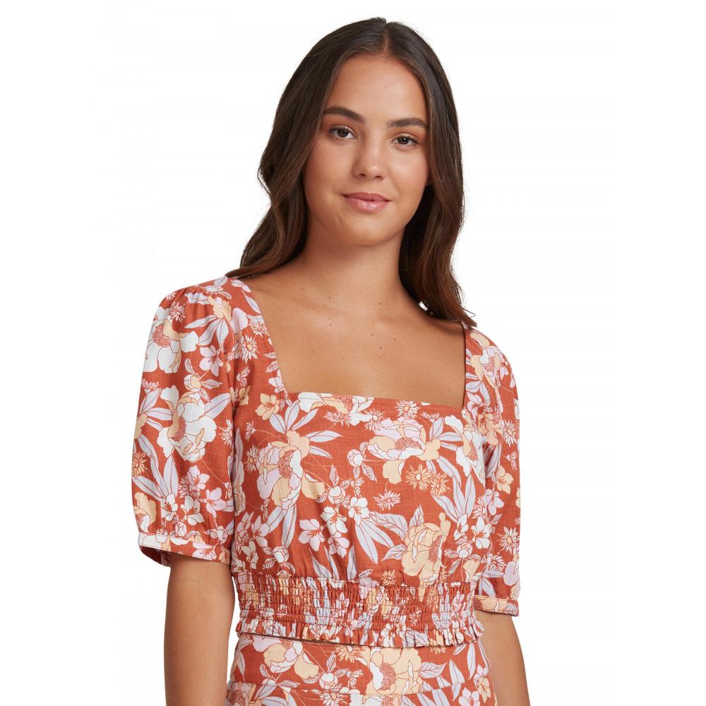 Womens Sunset Soiree Printed Short Sleeve Top URJWT03060 Roxy