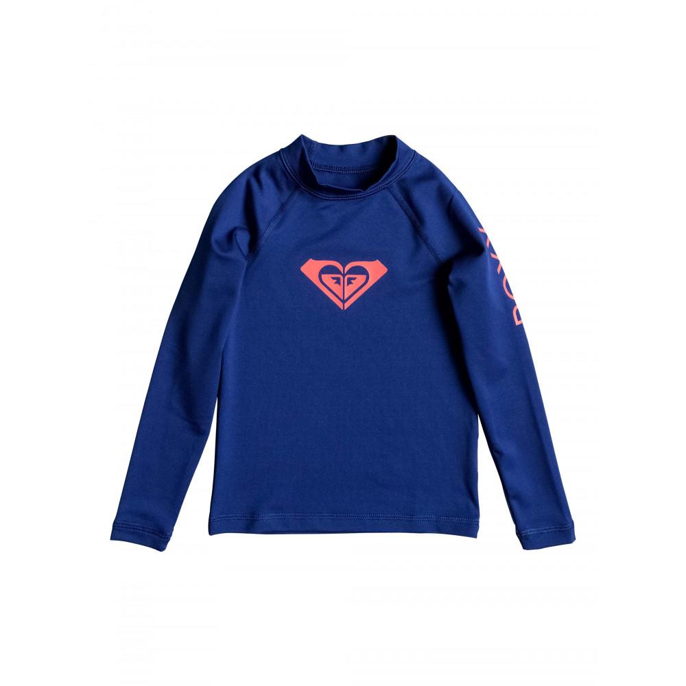 Girls 2-7 Whole Hearted Long Sleeve Rash Vest URLWR03025 Roxy