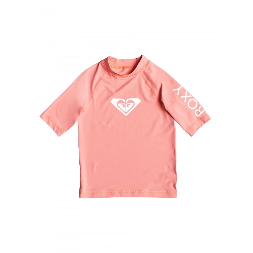 Girls 2-7 Whole Hearted Short Sleeve Rash Vest URLWR03026 Roxy