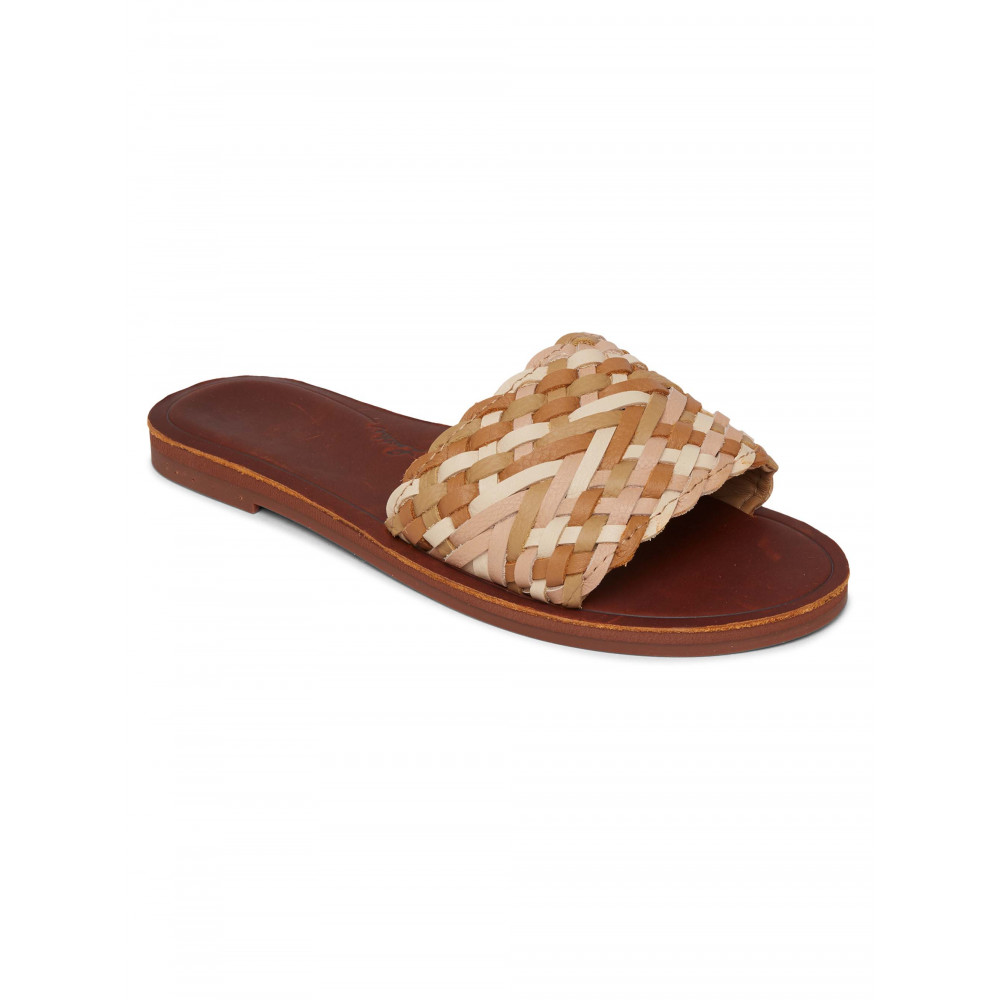 Womens Arabella Woven Strap Leather Sandals
