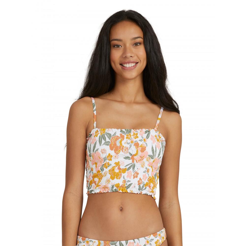 Womens On Repeat Separate Smocked Bikini Top