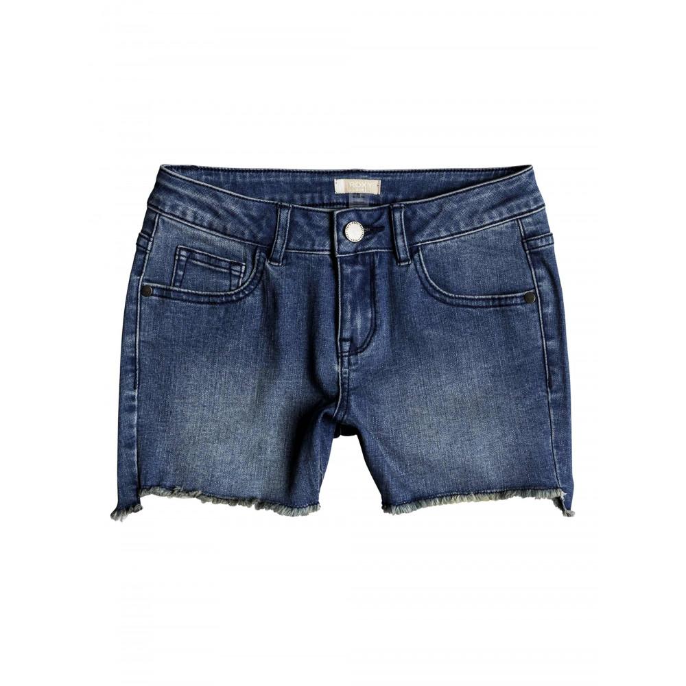 Girls 8-14 Light Hearted Denim Shorts