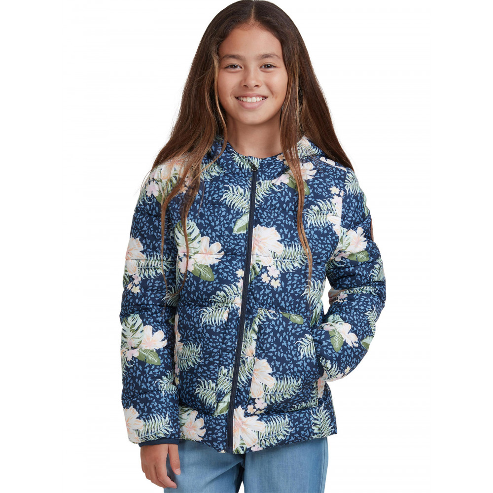 Girls 4-14 Glitter Shell Puffer Jacket