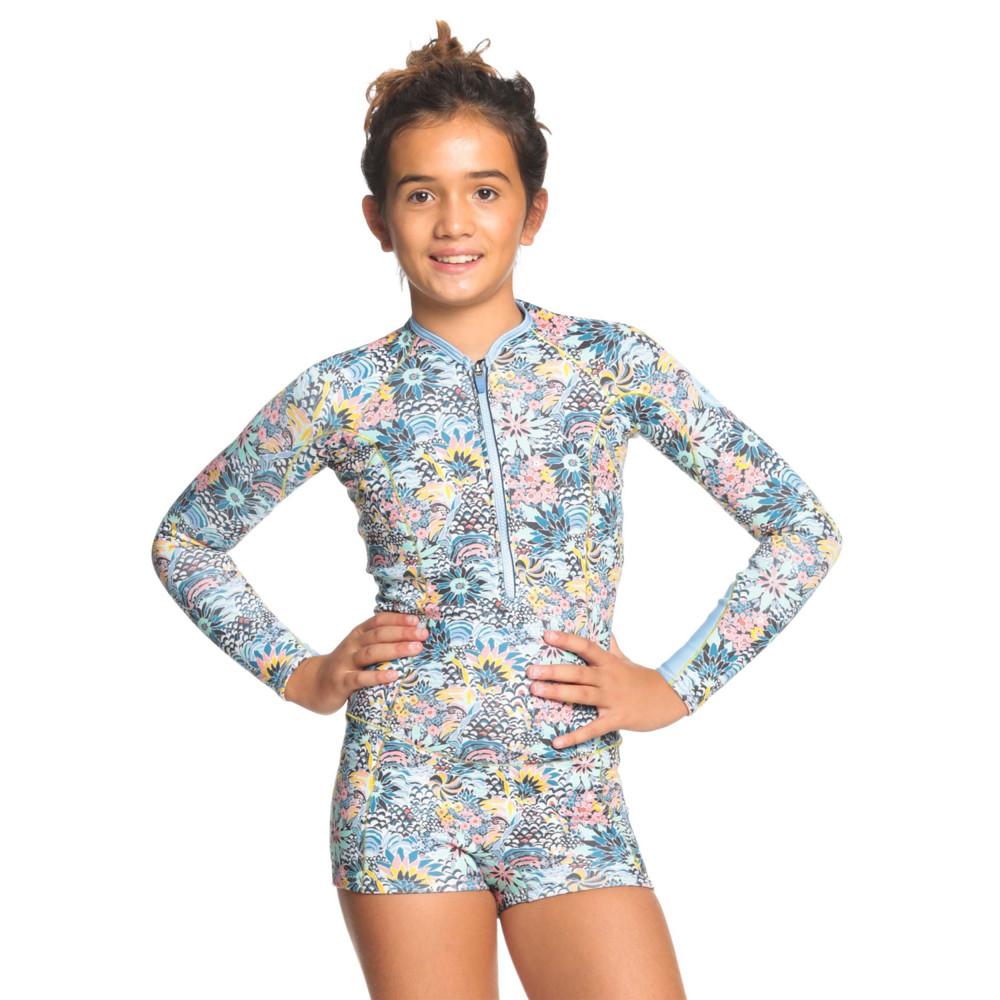 Girls 8-16 1.5mm Marine Bloom Front Zip Long Sleeve Springsuit Wetsuit