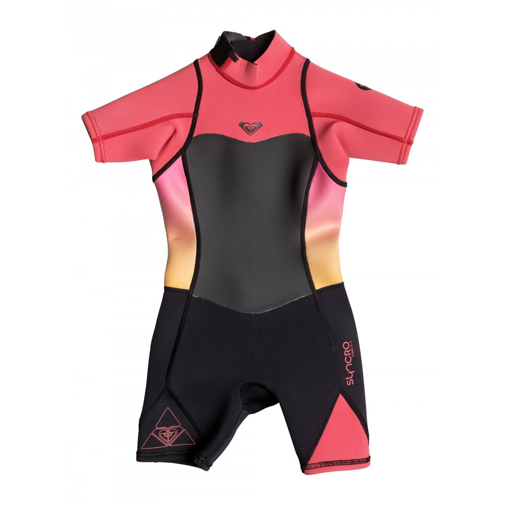 Girls 2-7 Syncro 2/2mm Short Sleeve Springsuit Wetsuit