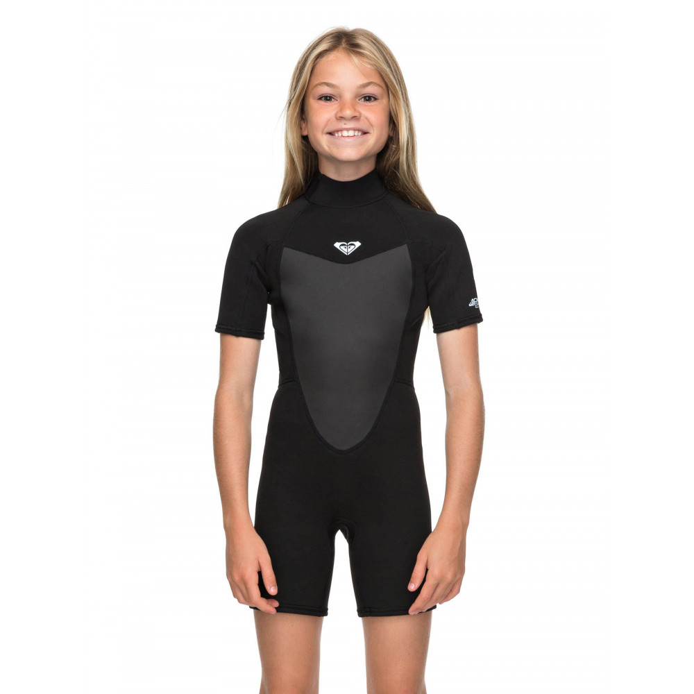 Girls 2-16 Prologue 2/2mm Short Sleeve Back Zip Springsuit
