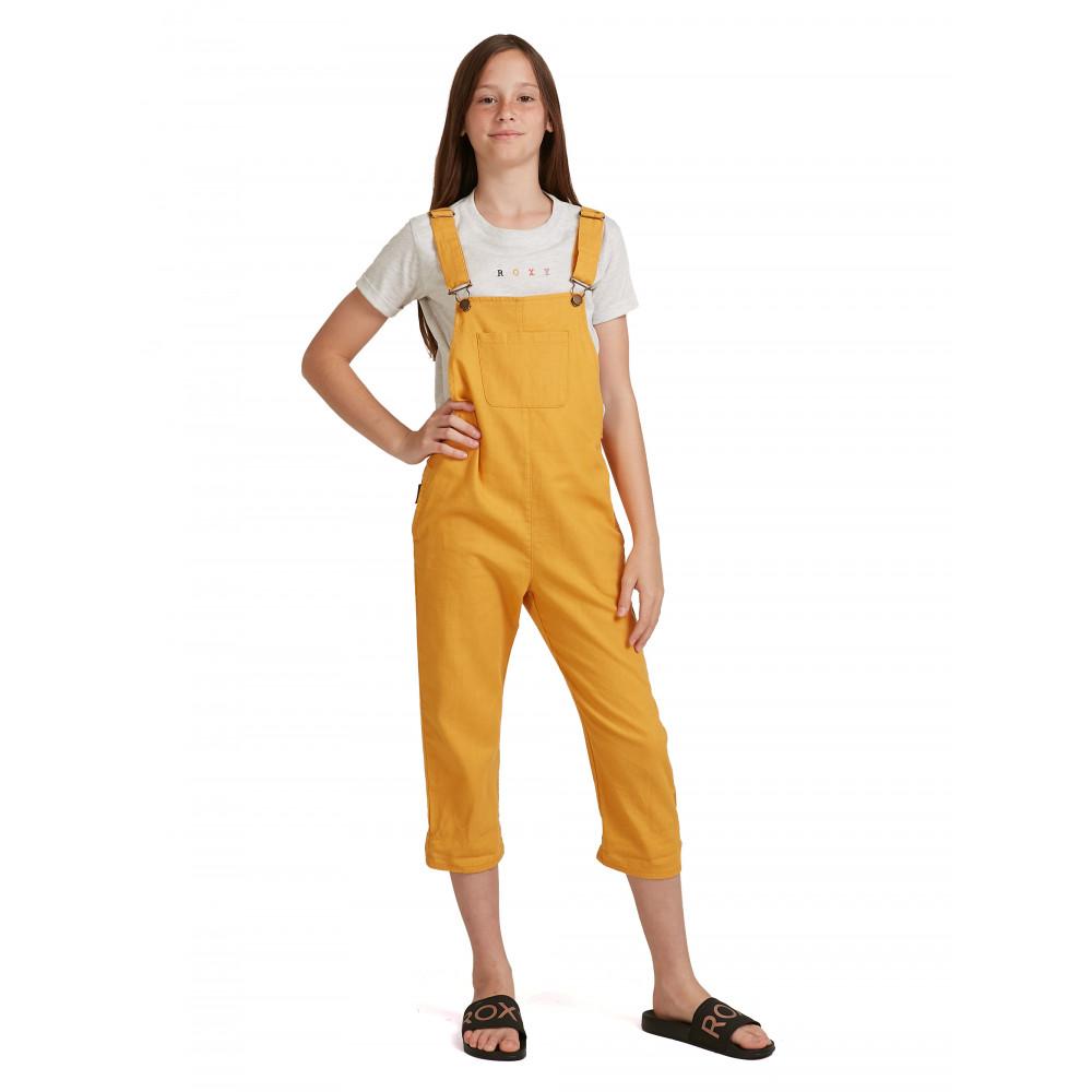 Girls 4-14 Free Fallin Linen Overalls