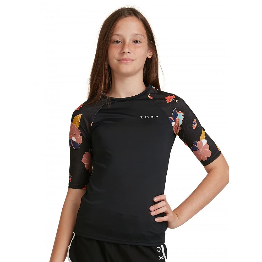 Girls 8-14 Riding Time Short Sleeve UPF 50 Rash Vest