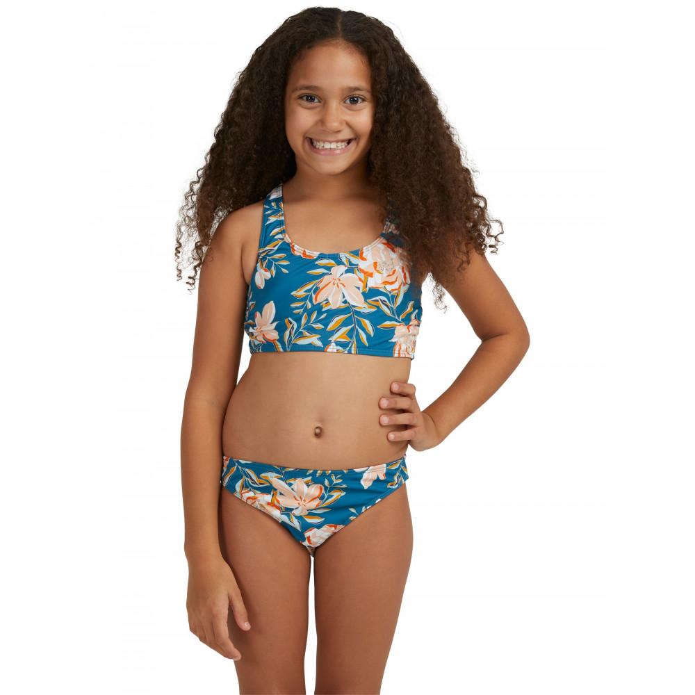 Girls 8-14 Summer Of Surf Crop Top Bikini Set