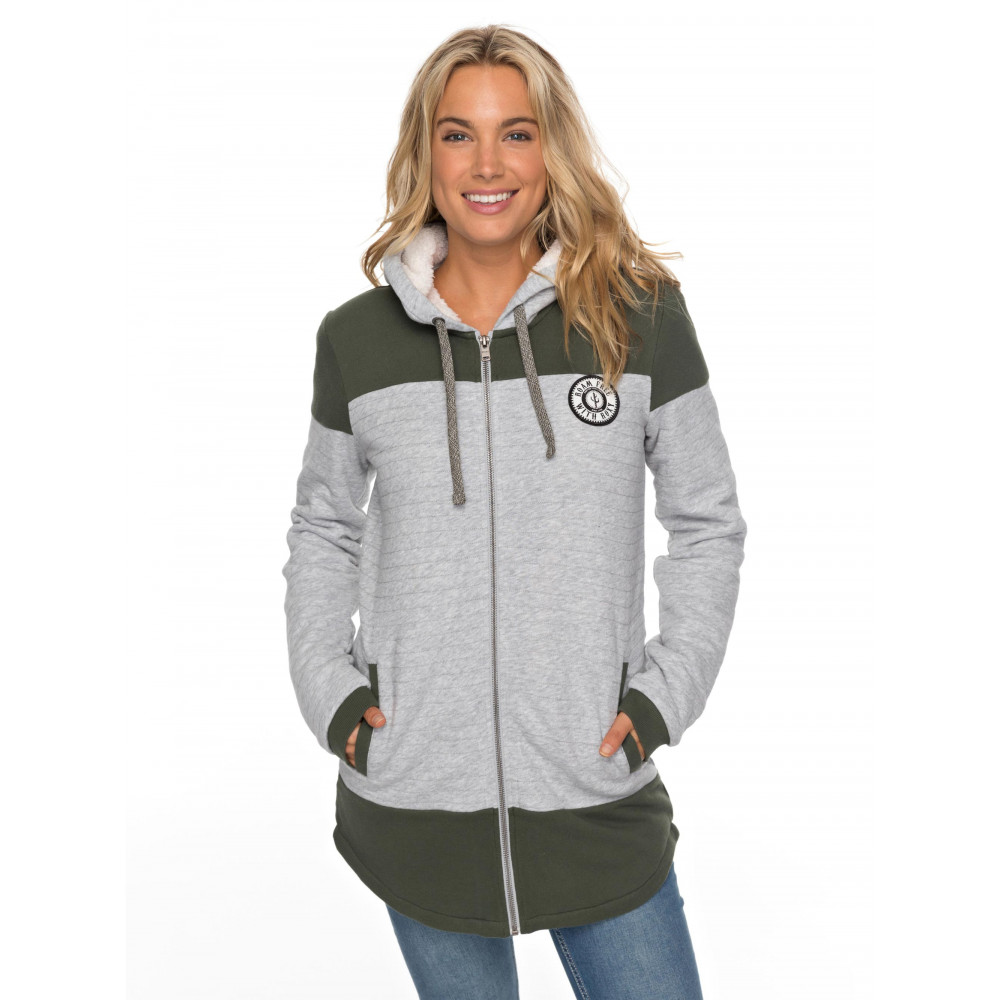 Womens Anchor Point Padded Zip-Up Hooded Jacket