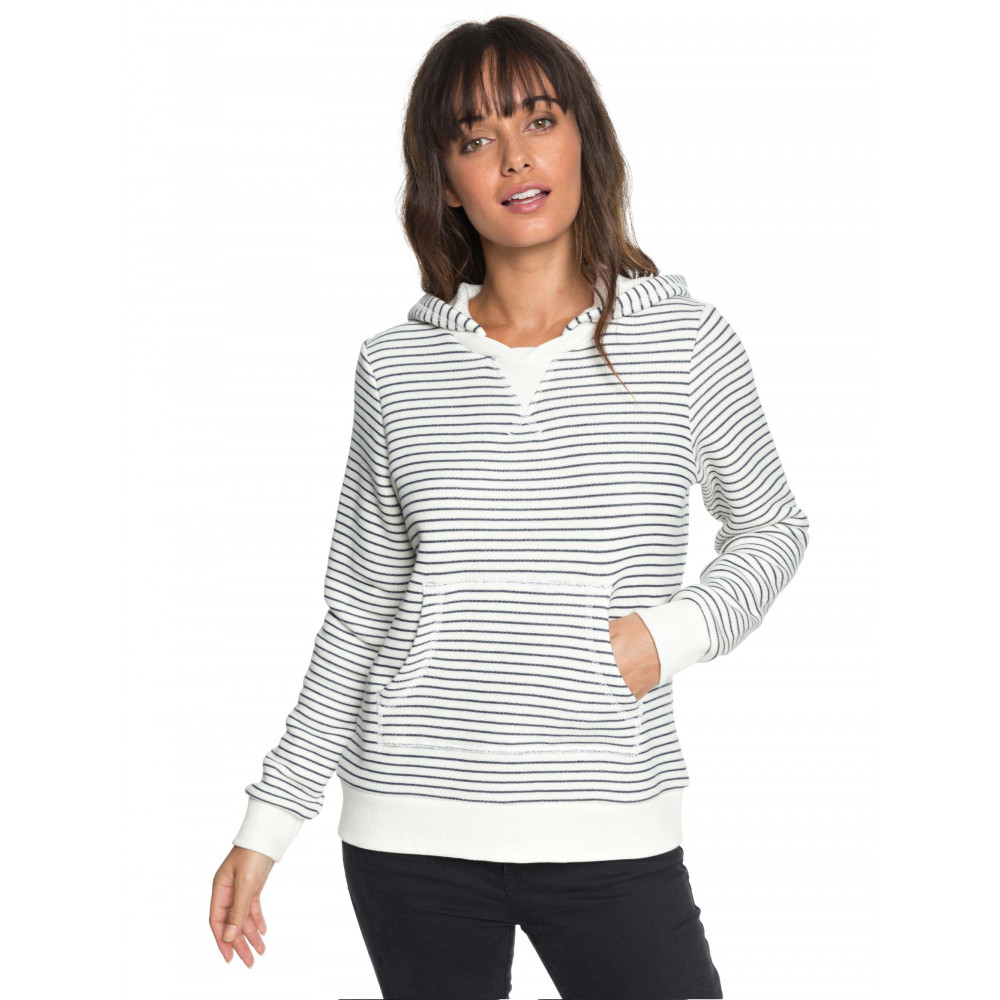 Womens Prairie Rose Striped Hoodie