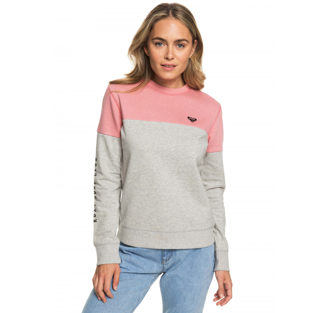 Womens Early Blue Colour Block Fleece Jumper