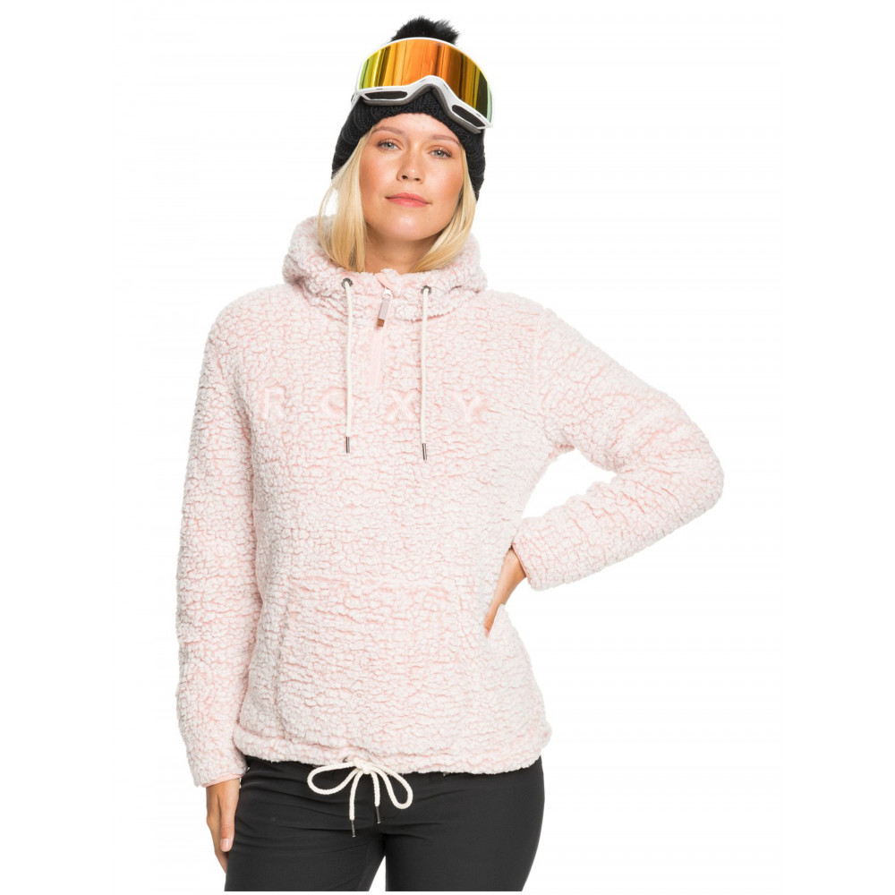 Womens Sherpa Technical Half Zip Hooded Fleece
