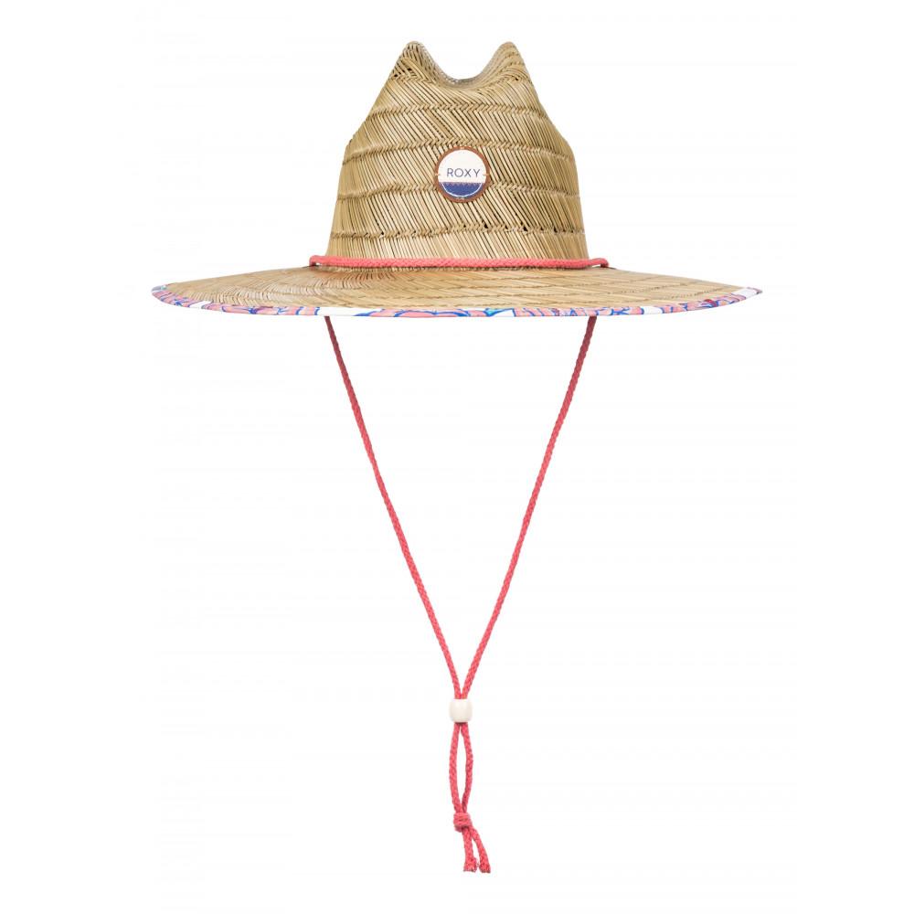 Womens Tomboy Printed Wide Brim Straw Sun Hat