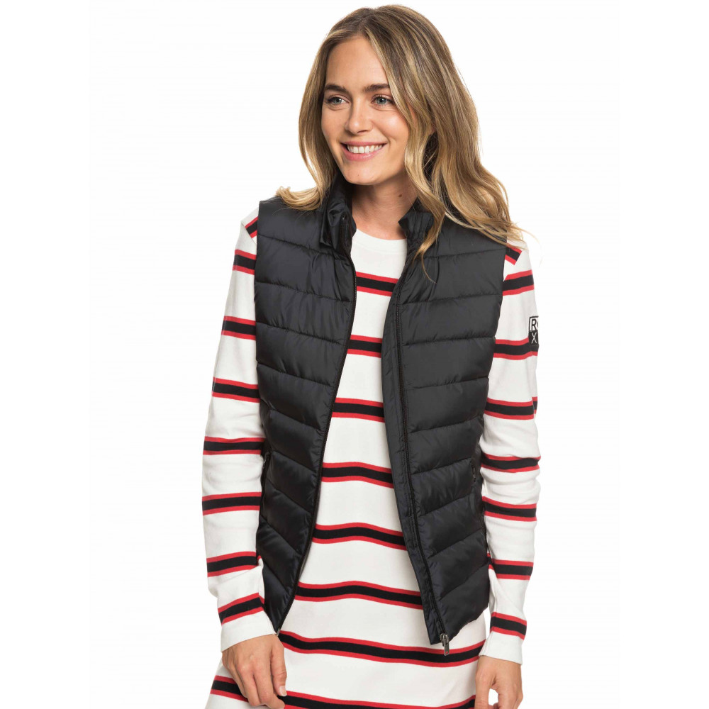 Womens Here Comes The Rain Quilted Puffer Vest