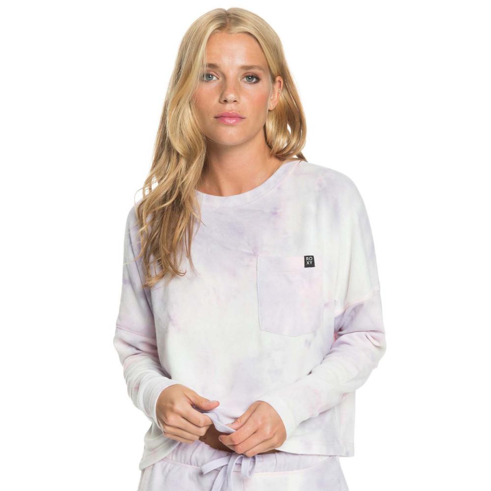 Womens Sunshine Spirit Cosy Long Sleeve Tie Dye Top
