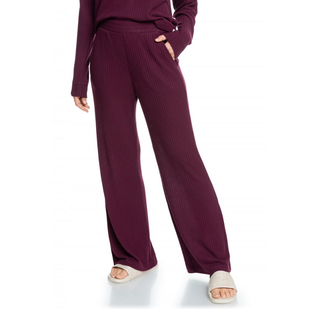 Womens Comfy Place Cosy Rib Wide Leg Pants