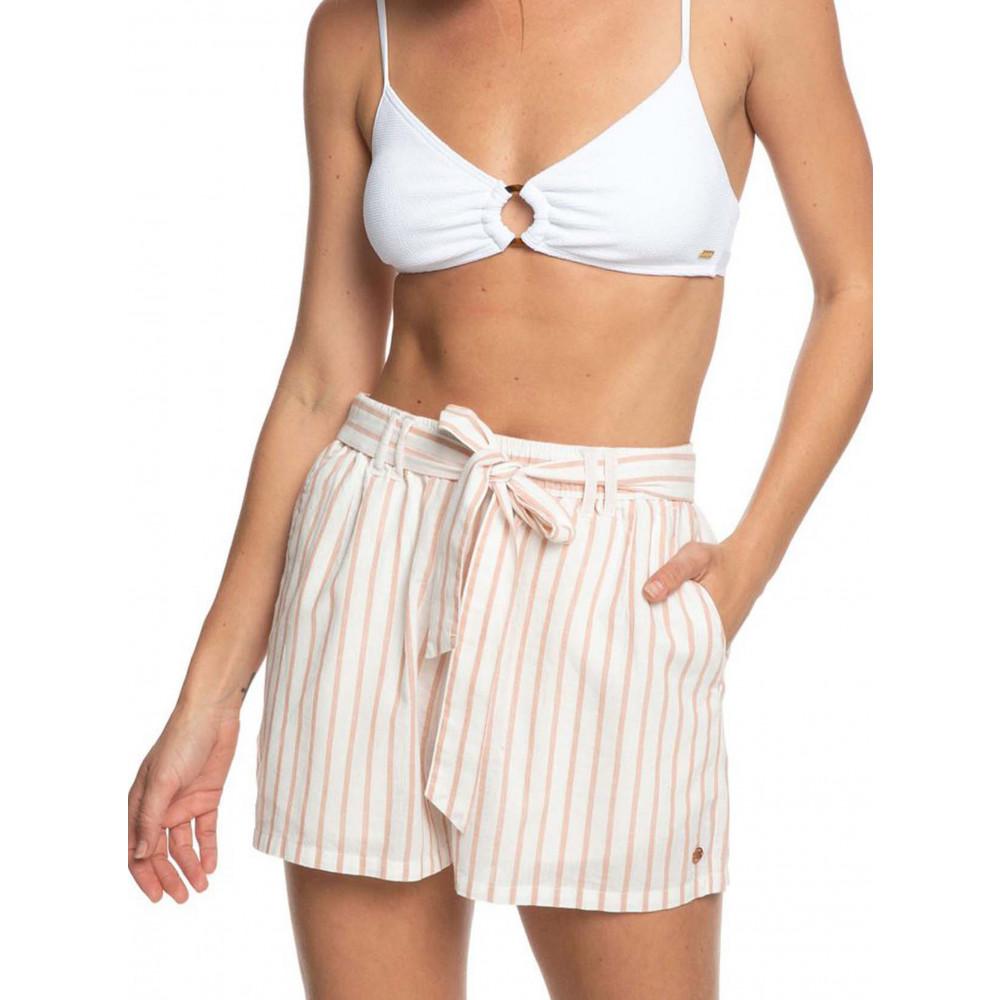 Womens Steal The Sun High Waist Linen Short