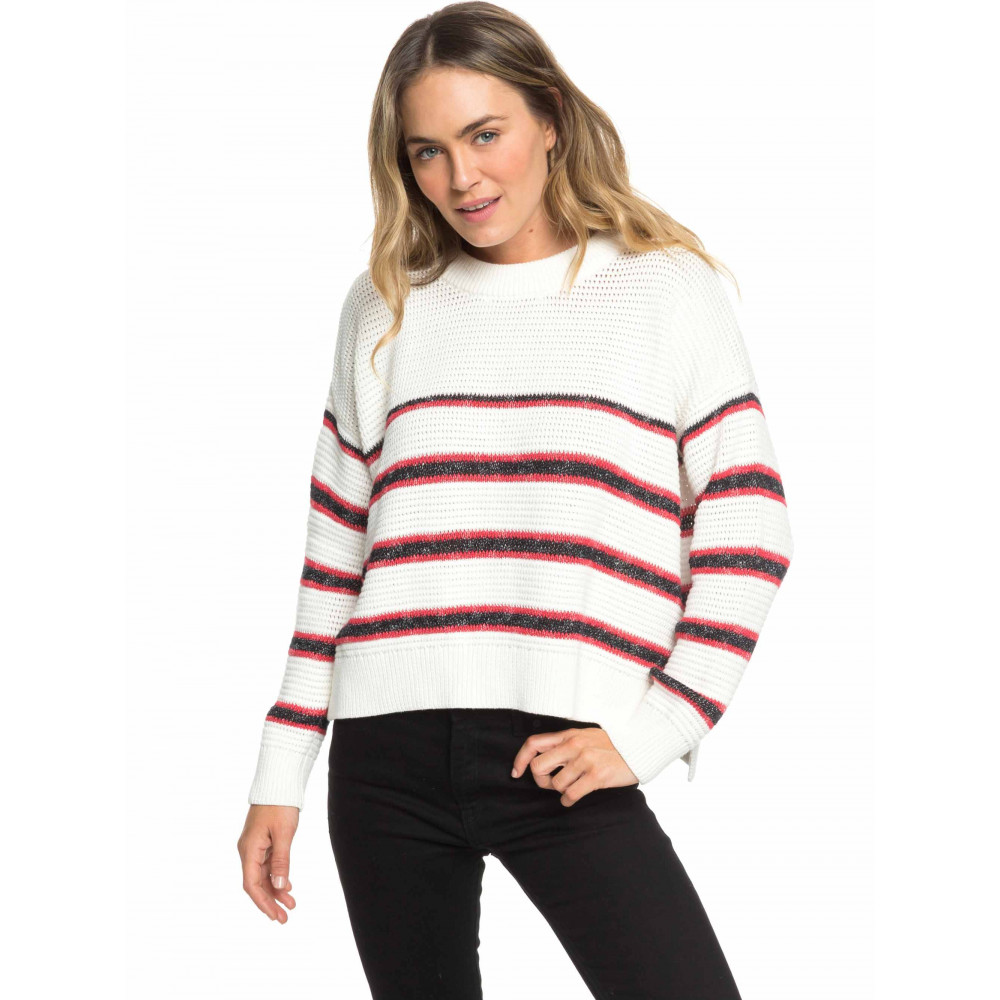Womens Manhattan Calling Striped Knit Jumper