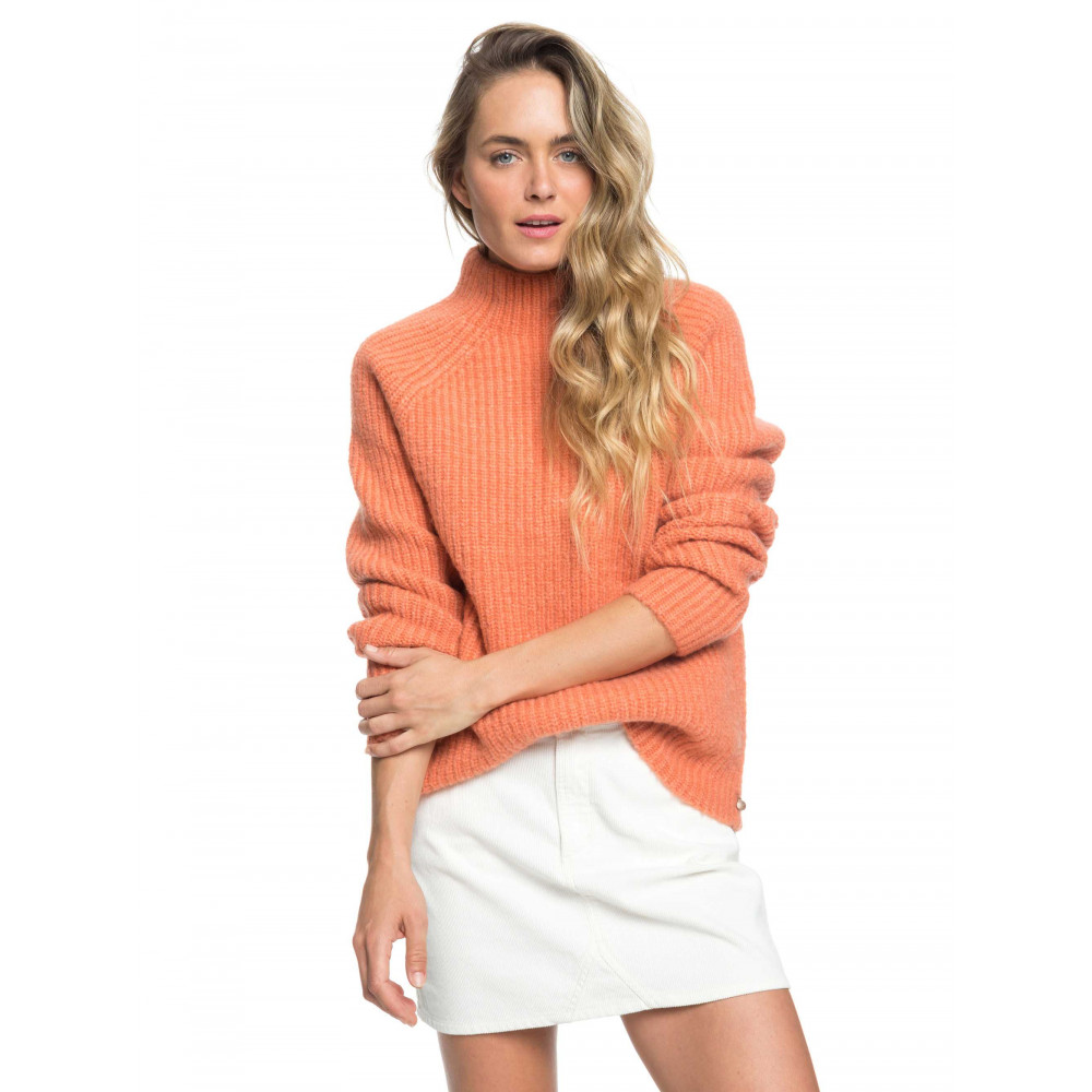 Womens Casual Lifestyle Mock Neck Knit Jumper