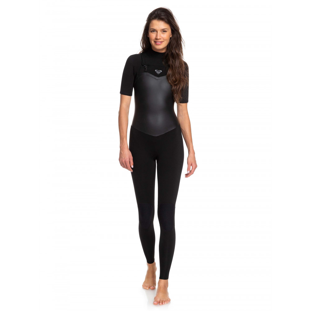 Womens Satin 2/2mm Chest Zip Springsuit Wetsuit