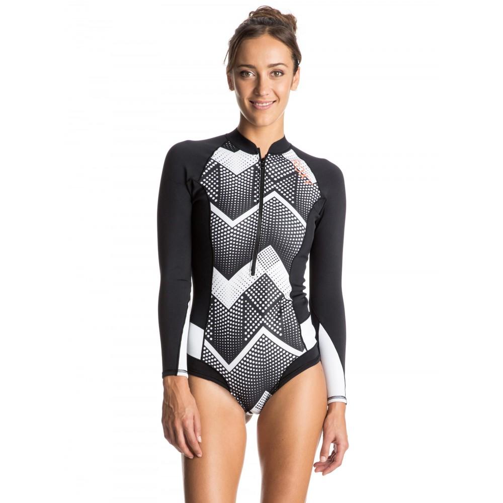 Womens Pop Surf 1mm Long Sleeve Bikini Springsuit Wetsuit