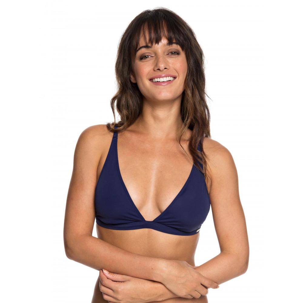 Womens Beach Basic Elongated Tri Separate Bikini Top
