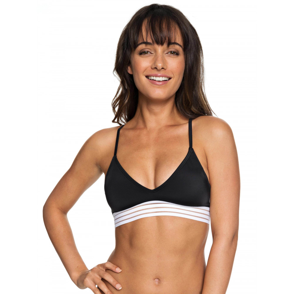 Womens ROXY Fitness Athletic Tri Separate Bikini Top