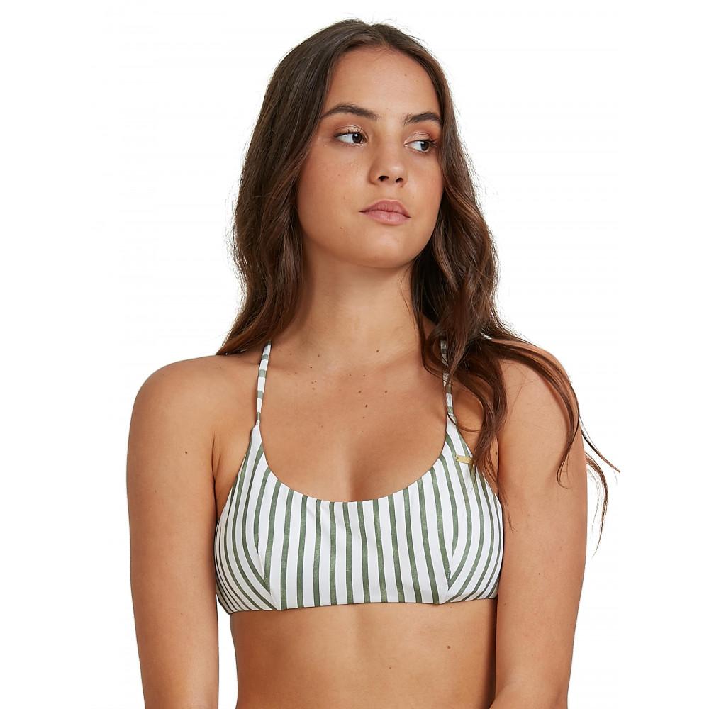 Womens Printed Beach Classics Athletic Tri Bikini Top