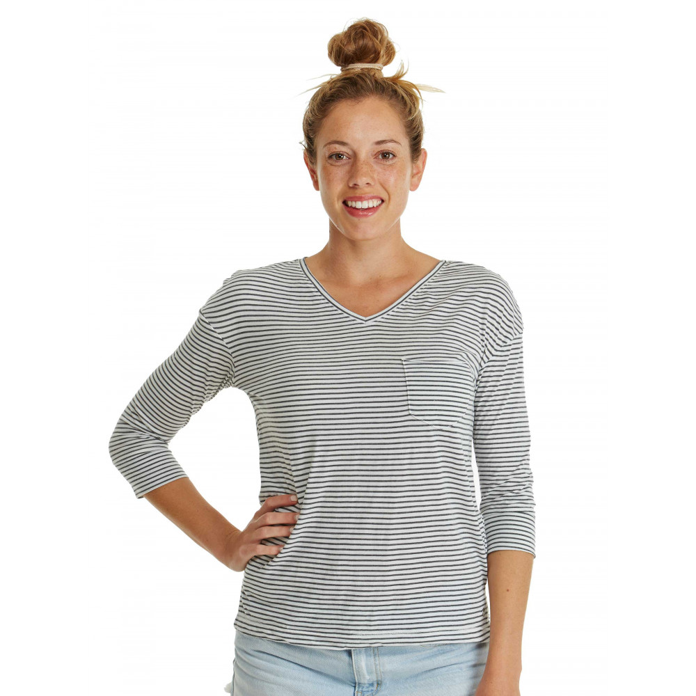 Womens Desert Is Calling Long Sleeved Stripe Pocket T-Shirt
