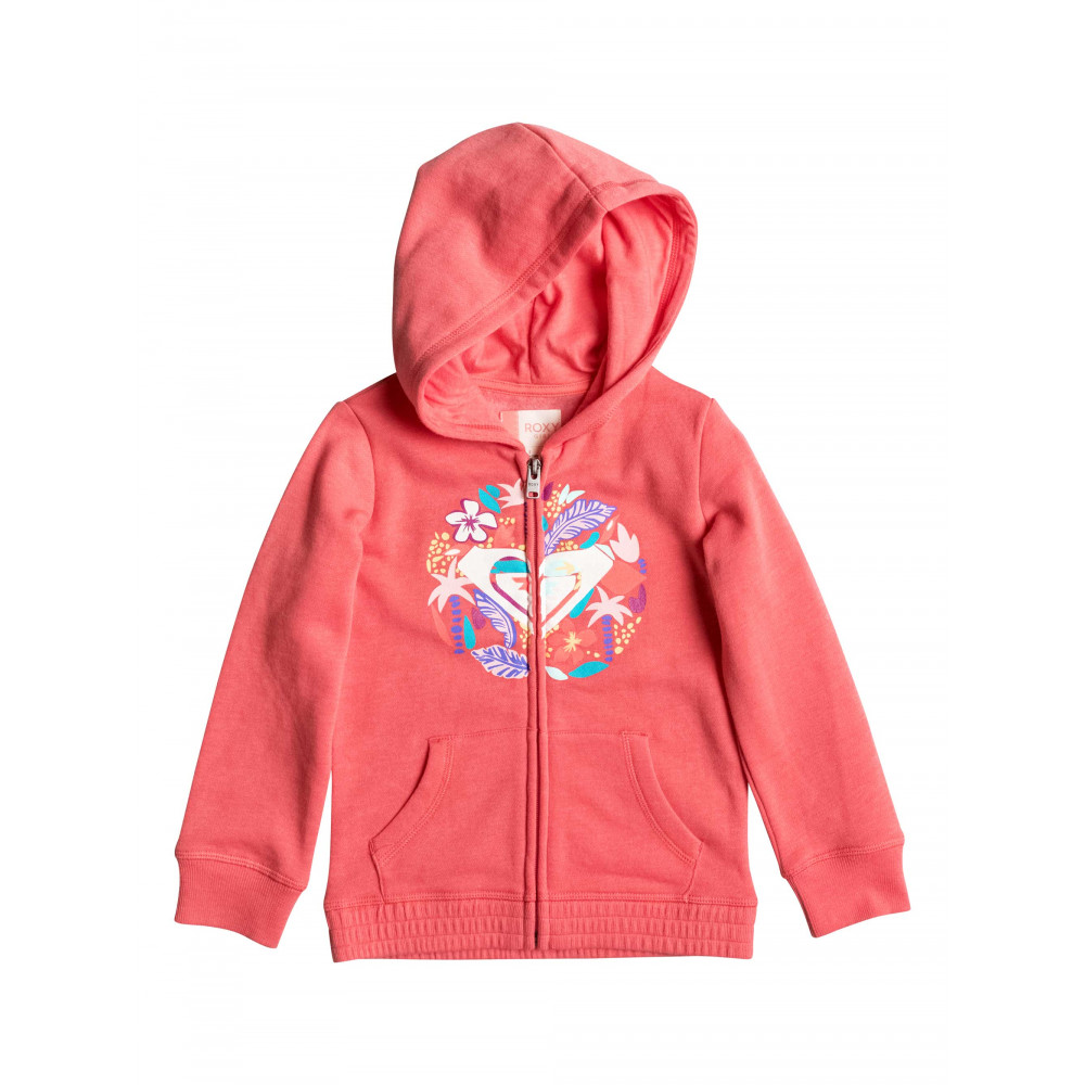 Girls 2-7 Lady's Eardrop Zipped Hoodie