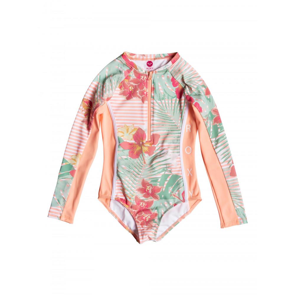 Girls 2-7 Lush Florals Long Sleeved UPF 50 Onesie