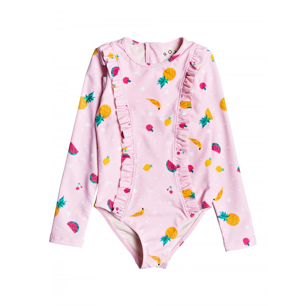 Girls 2-7 Lovely Aloha Long Sleeve Zipped UPF 50 Rash Vest Onesie