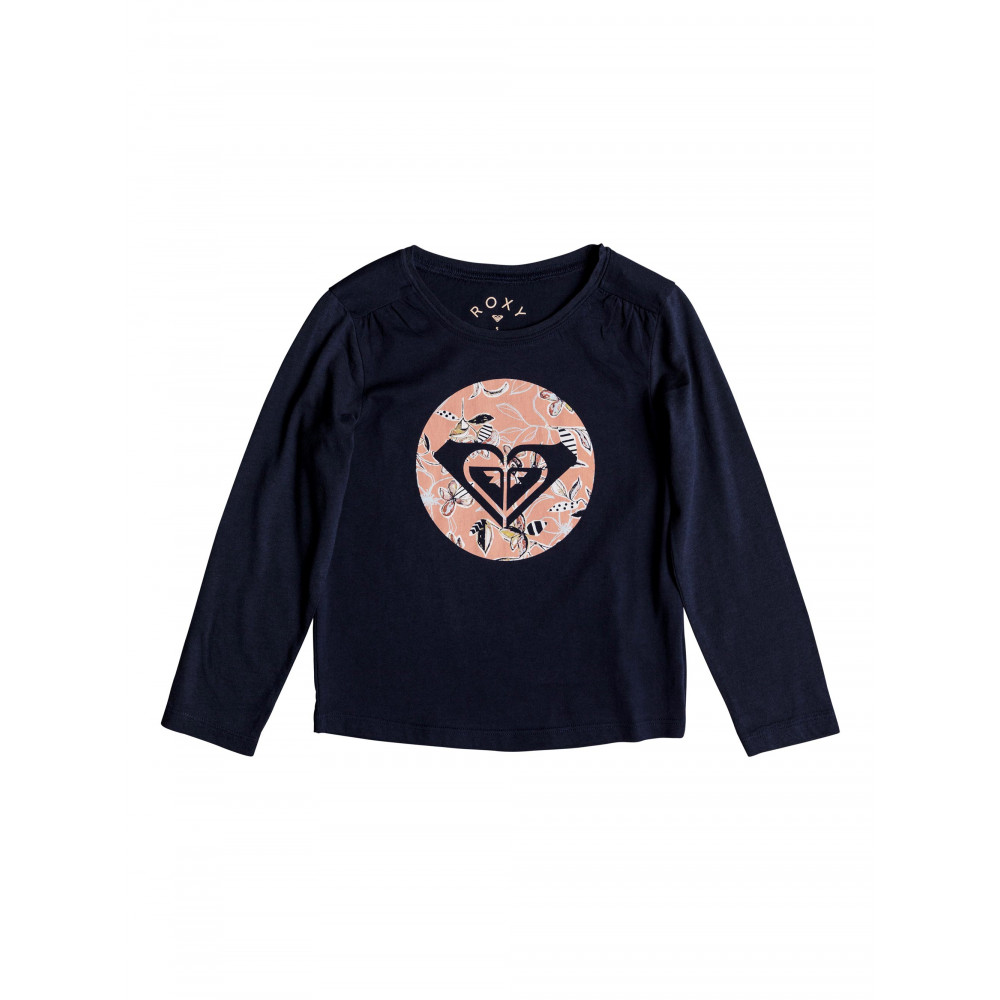 Girls 2-7 Never Ages Trellis Logo Long Sleeved T Shirt