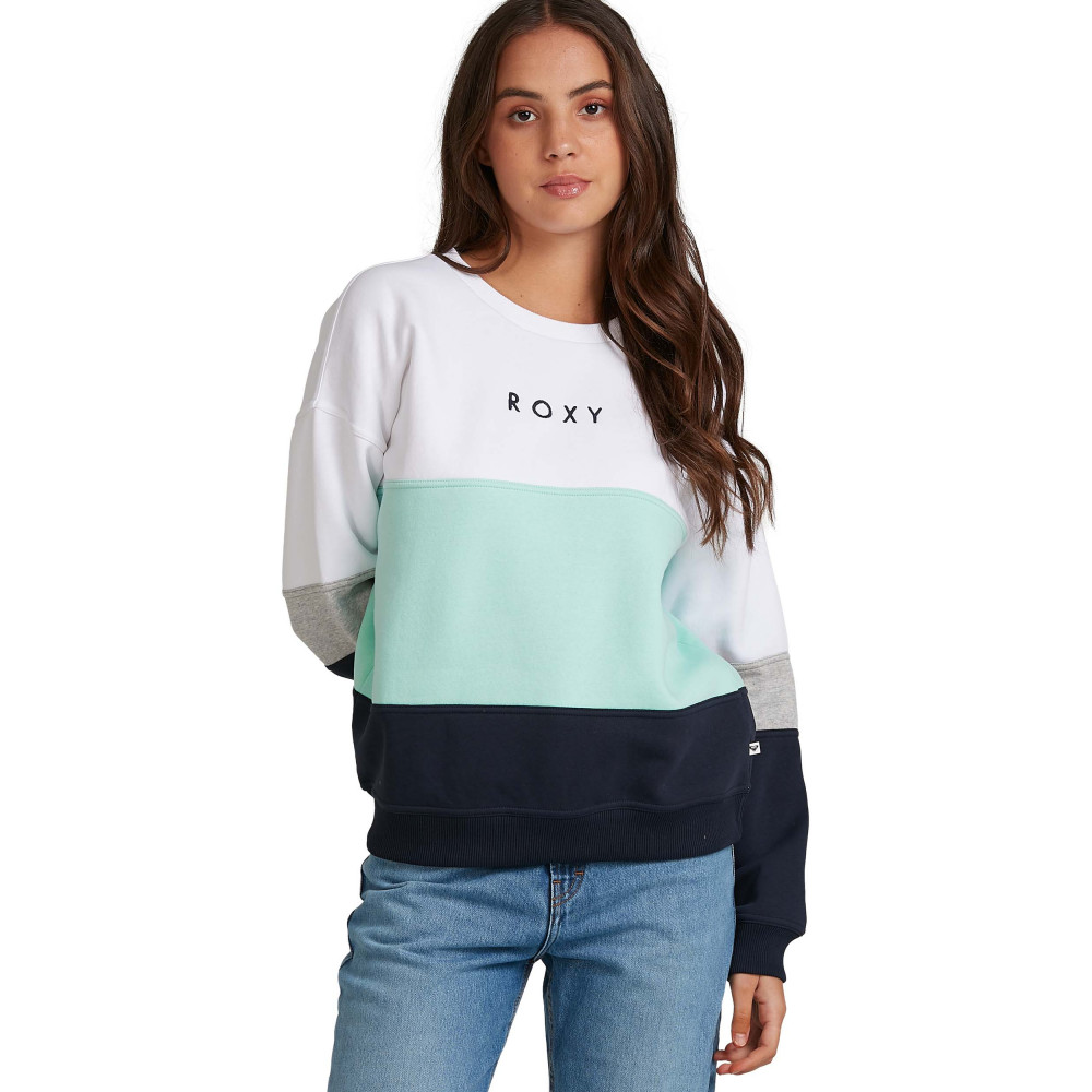 Womens In The Moonlight Colourblock Fleece Jumper